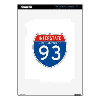 Interstate Sign 93 - New Hampshire iPad 3 Decals