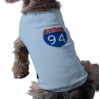 Interstate Sign 94 Doggie T-shirt