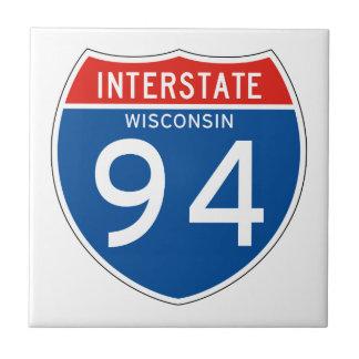 Interstate Sign 94 - Wisconsin Ceramic Tile