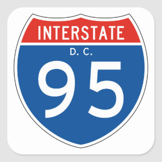 Interstate Sign 95 - District of Columbia Square Sticker