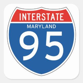 Interstate Sign 95 - Maryland Square Sticker
