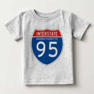 Interstate Sign 95 - Massachusetts Baby T-Shirt