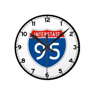 Interstate Sign 95 - New Hampshire Round Clock