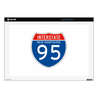 """Interstate Sign 95 - New Hampshire Decal For 17"""" Laptop"""