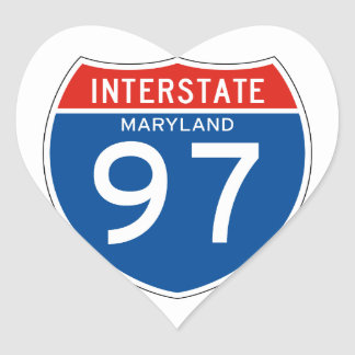 Interstate Sign 97 - Maryland Heart Sticker