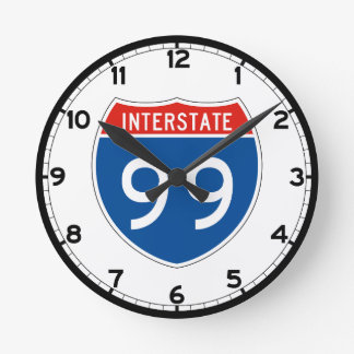 Interstate Sign 99 - Pennsylvania Round Clock