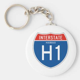 Interstate Sign H1 - Hawaii Llaveros
