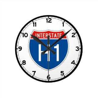 Interstate Sign H1 - Hawaii Round Clock