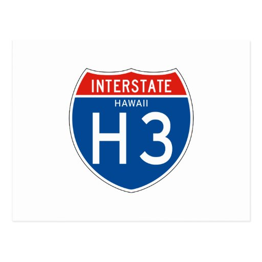 Interstate Sign H3 - Hawaii Post Card
