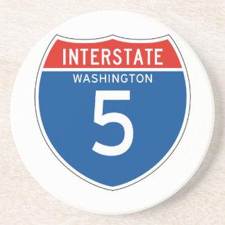 Interstate Sign the 5 - Washingtons Coaster