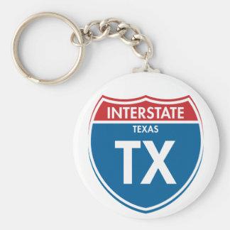 Interstate Texas TX Keychain