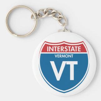 Interstate Vermont VT Keychain