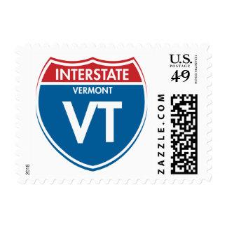 Interstate Vermont VT Postage