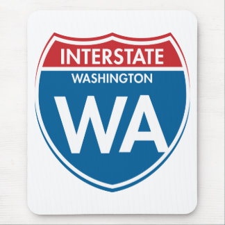 Interstate Washington WA Mouse Pad