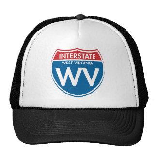 Interstate West Virginia WV Trucker Hats