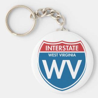 Interstate West Virginia WV Keychain