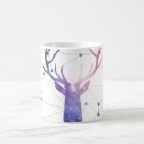 deer, interstellar, cool, animal, nebula, fashion, stag, space, geometric, boho, pretty, hipster, fun, trend, fashionable, mug, Mug with custom graphic design