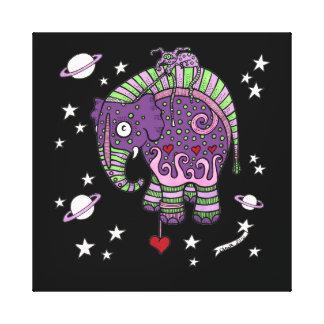Interstellar Elephant Gallery Wrapped Canvas