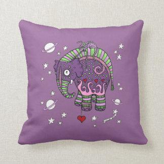 Interstellar Elephant Throw Pillow