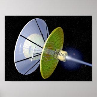 Interstellar Space Craft Poster