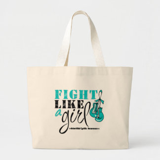 Interstitial Cystitis Awareness Fight Like a Girl Tote Bag