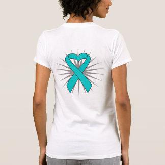 Interstitial Cystitis Awareness Heart Ribbon Tshirt