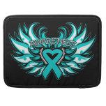 Interstitial Cystitis Awareness Heart Wings MacBook Pro Sleeves