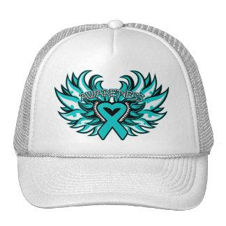 Interstitial Cystitis Awareness Heart Wings.png Trucker Hat