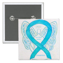 Interstitial Cystitis Awareness Ribbon Angel Pins