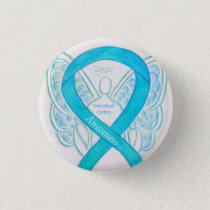 Interstitial Cystitis Awareness Ribbon Angel Pins