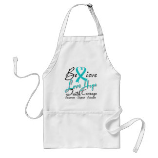 Interstitial Cystitis Believe Heart Collage Adult Apron