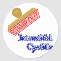 Interstitial Cystitis Classic Round Sticker