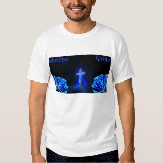 Interstitial Cystitis - Cross/Ribbon/Rose T-shirt