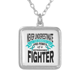 Interstitial Cystitis Determined Fighter Square Pendant Necklace