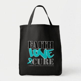 Interstitial Cystitis Faith Love Cure Canvas Bags