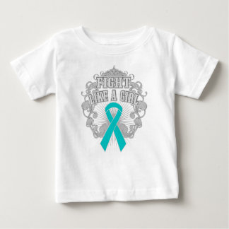 Interstitial Cystitis Fight Like A Girl Fleurish T-shirt