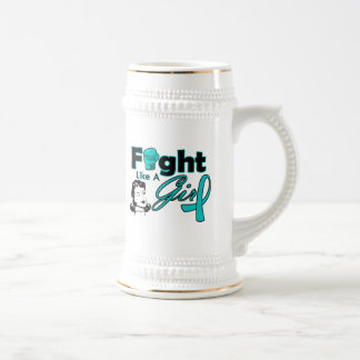 Interstitial Cystitis Fight Like A Girl - Retro Gi 18 Oz Beer Stein