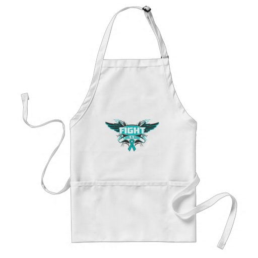 Interstitial Cystitis Fight Like a Girl Wings.png Adult Apron