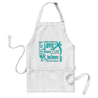 Interstitial Cystitis Hope Words Collage Adult Apron