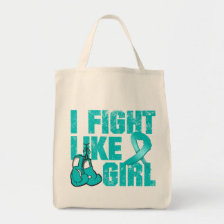Interstitial Cystitis I Fight Like A Girl (Grunge) Bags