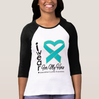 Interstitial Cystitis I Wear a Ribbon For My Hero Shirts