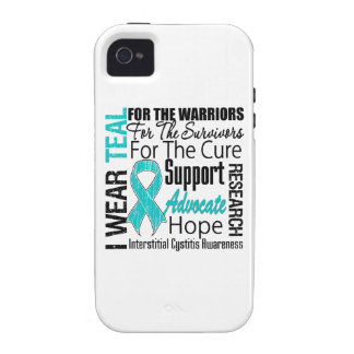 Interstitial Cystitis I Wear Teal Ribbon Tribute Vibe iPhone 4 Covers