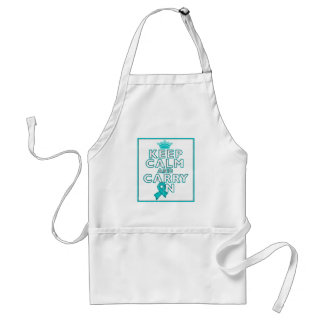 Interstitial Cystitis Keep Calm and Carry ON Adult Apron