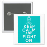 Interstitial Cystitis Keep Calm and Fight On Button