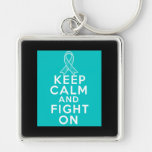 Interstitial Cystitis Keep Calm and Fight On Keychain