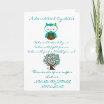 Interstitial Cystitis Owl Card