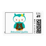 Interstitial Cystitis Owl Postage Stamp