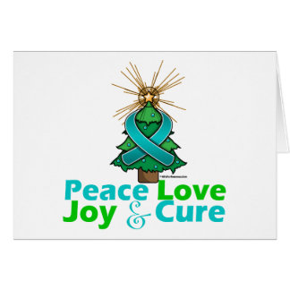 Interstitial Cystitis Peace Love Joy Cure Greeting Card