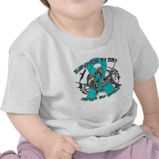 Interstitial Cystitis Survivor By Day Ninja Night Tshirts