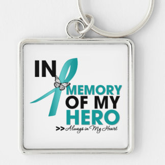 Interstitial Cystitis Tribute In Memory of My Hero Silver-Colored Square Keychain